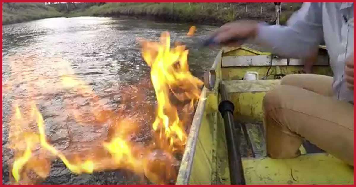 Einen Fluss den man anzünden kann?!