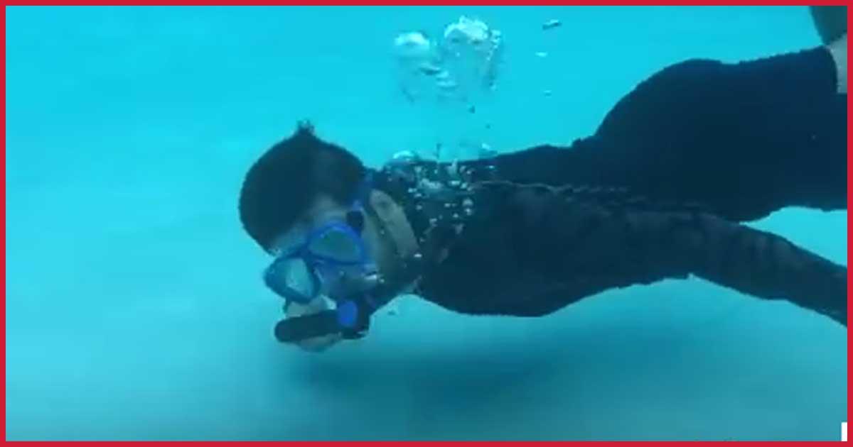 Atmen unter Wasser ohne Sauerstoffflasche. Genial!