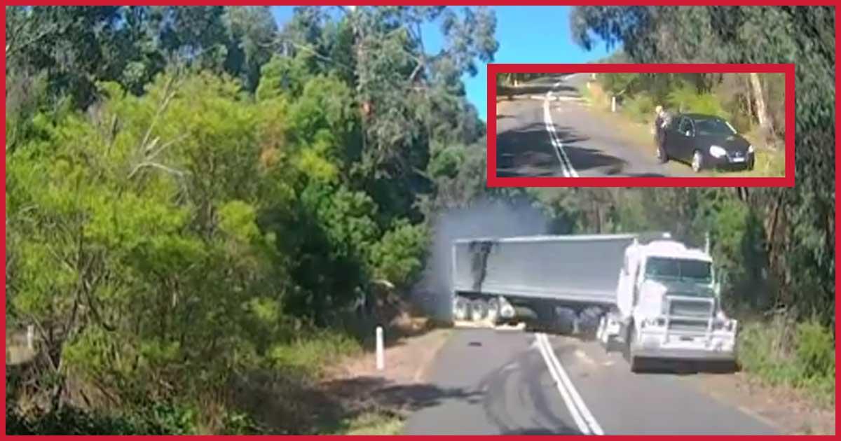 LKW-Fahrer kann nicht mehr stoppen. Schockcrash in Australien!