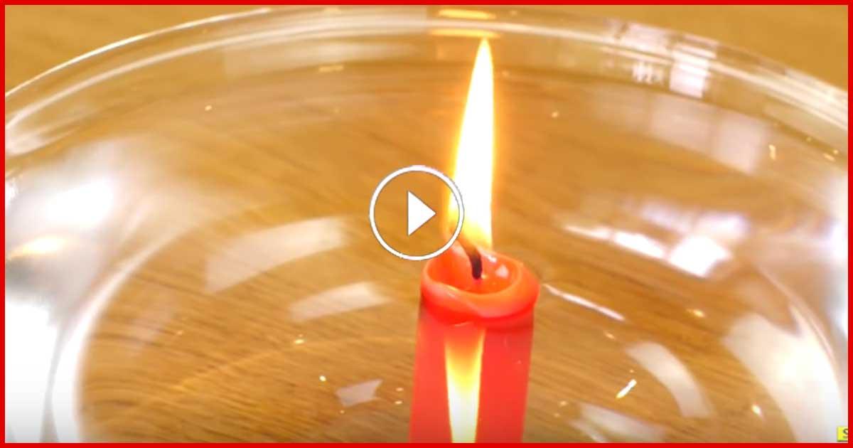 Cooler Trick. Kerze brennt unter Wasser!