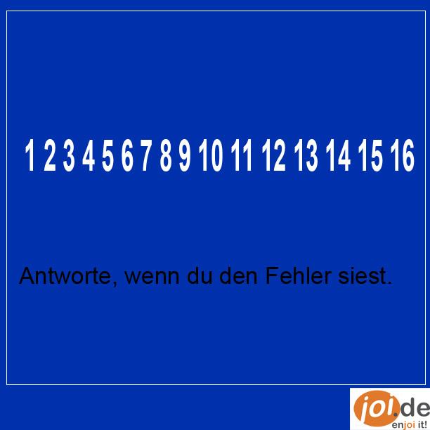 Lustiges Rätsel. Na hast du es entdeckt?