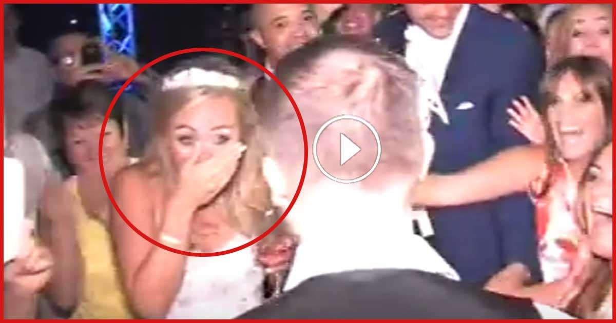 Diese Braut bekommt Schnappatmung als plötzlich Gary Barlow auftaucht!