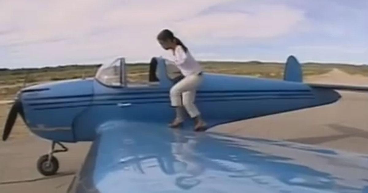 Sie hat keine Arme ist aber Pilotin. Als ich das sah, war ich total motiviert.