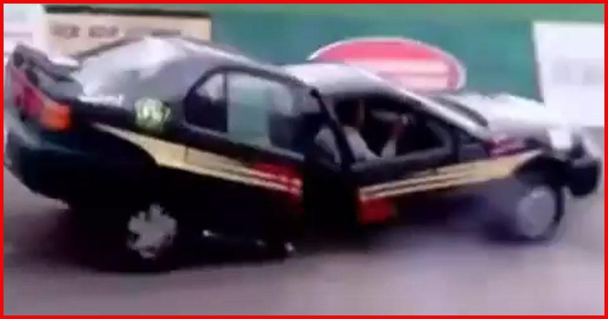 Auto zerbricht plötzlich in zwei Hälften! Sieh dir das an.