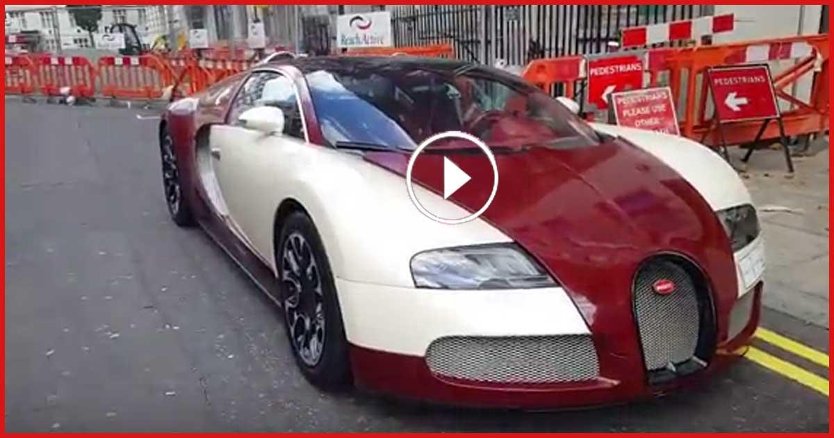 Diese 1,3 Millionen teure Bugatti Veyron erhält einen Strafzettel und springt dann nicht an!
