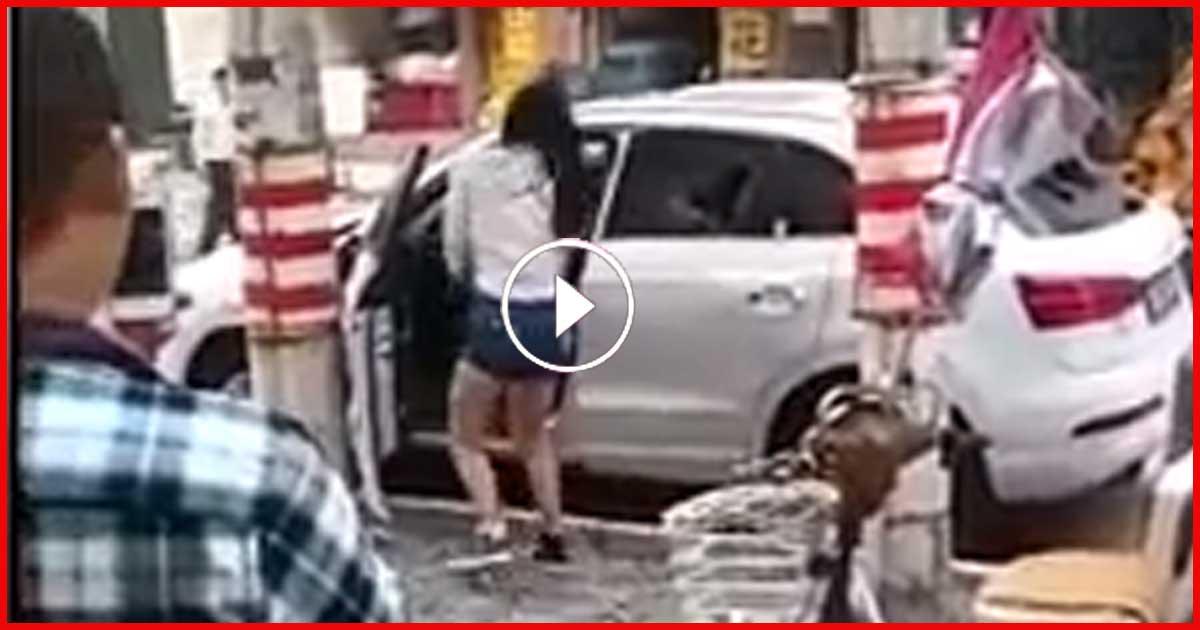 Diese junge Frau zerstört ihren Audi Q3, weil er angeblich zu klein ist!