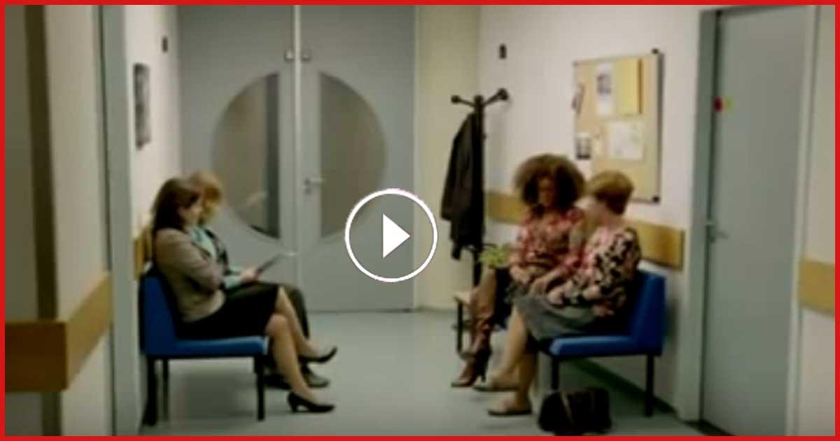 4 Frauen sitzen im Wartezimmer. Doch was nach 53 Sekunden passiert, haut mich total um!