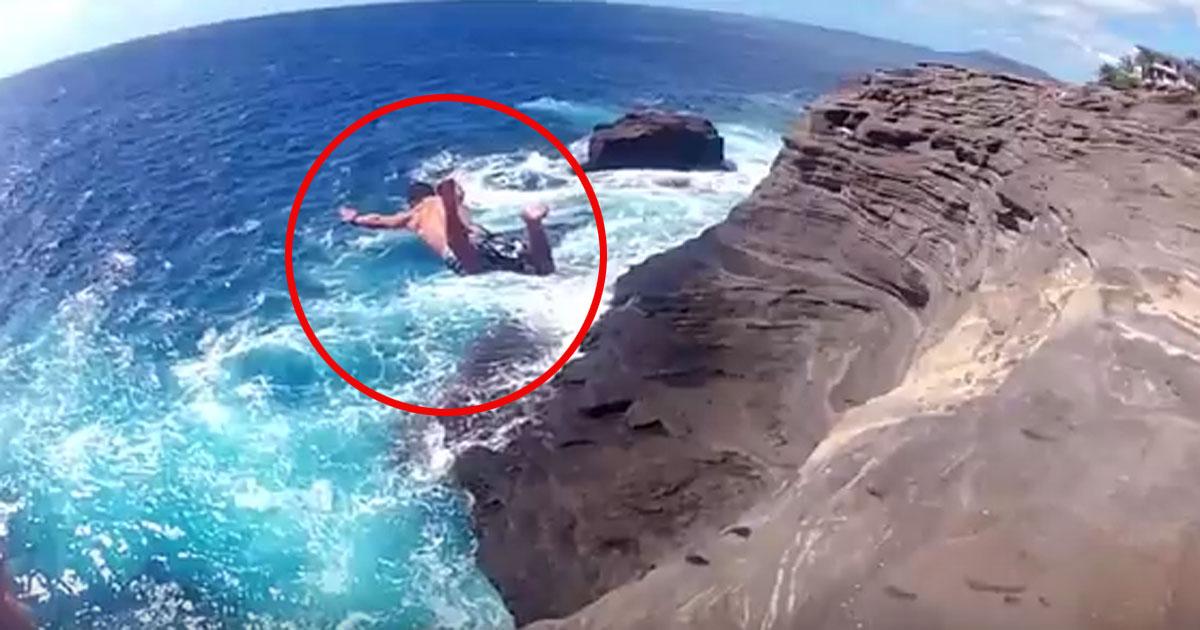 Lebensmüde oder kalkuliertes Risiko? Klippen Springer auf Hawaii!