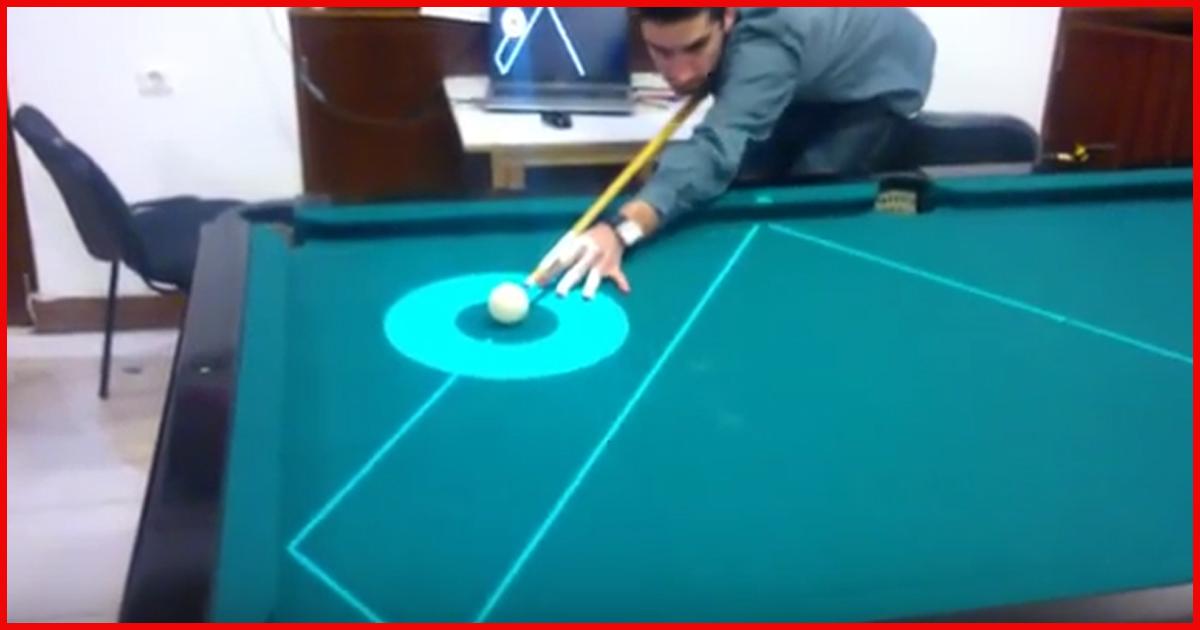 Pool Billard spielen mit Hilfe von Lasern?! Sieh dir das an!