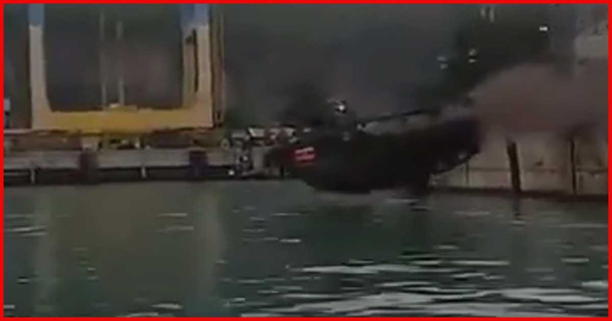 40 t LKW rast von der Pier ins Wasser!