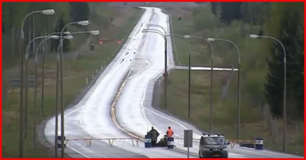 Kampfjet landet auf finnischer Autobahn!