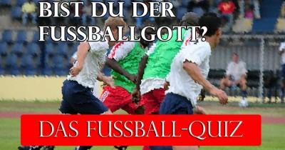 Bist du der Fußball-Gott?