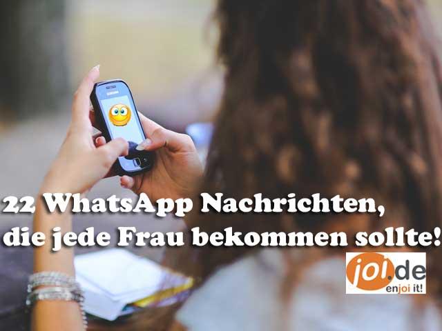 22 WhatsApp Nachrichten, die DU als Frau bekommen solltest!