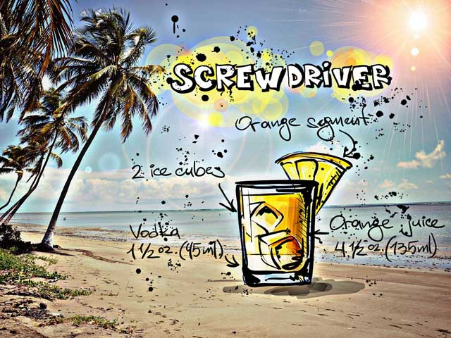 Cocktail Screwdriver
