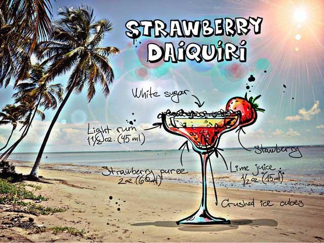 Cocktail Strawberry-Daiquiri