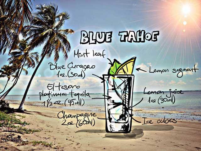 Cocktail Tahoe-Blue