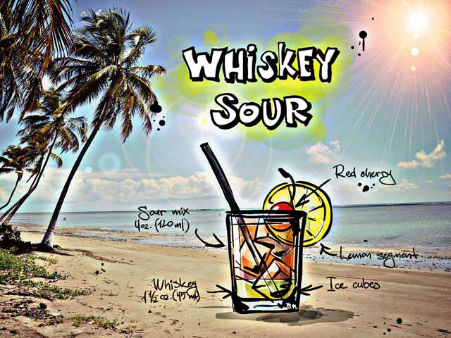 Cocktail Whiskey-Sour