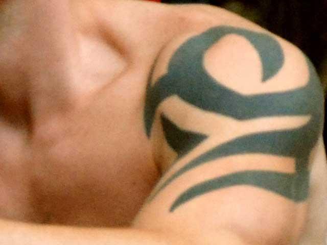Eine klassische Tattoozeichnung von den Māori