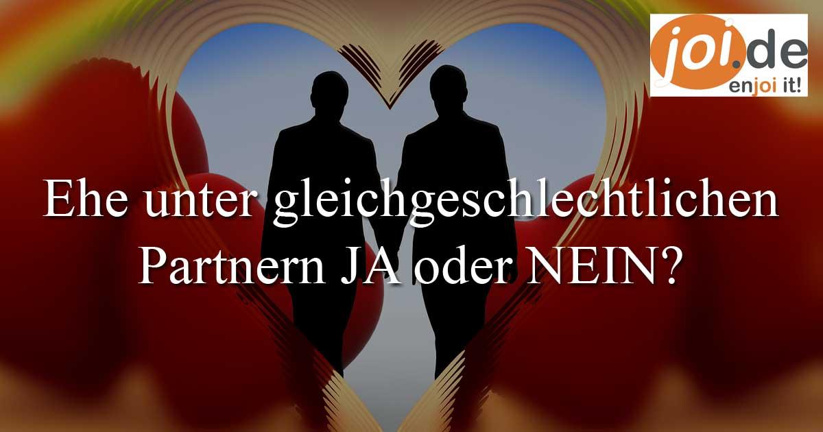 Homo-Ehe in Deutschland?